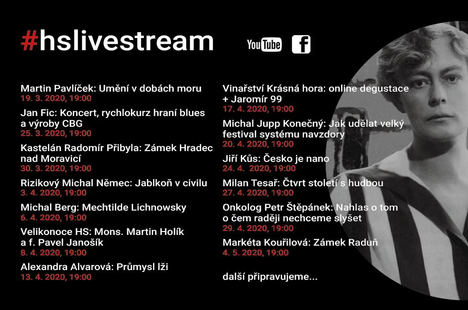 Přinášíme souhrn všech live streamů, které jsme pro vás připravili a připravujeme
